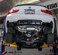 BMW 435i AWE Tuning Exhaust Side Profile Front Angle Mod Auto 4 190x179 BMW 435i F32 mit AWE Sportauspuff by ModBargains