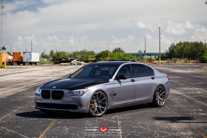 BMW 7 Series With Vossen Wheels 1 22 Zoll Vossen Wheels VPS 306 am BMW 7er F01