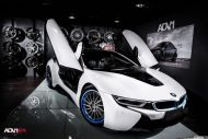 BMW i8 With Aftermarket Custom Forged Wheels Installed 1 190x127 20 Zoll ADV15R Track Spec Felgen in Blau am BMW i8