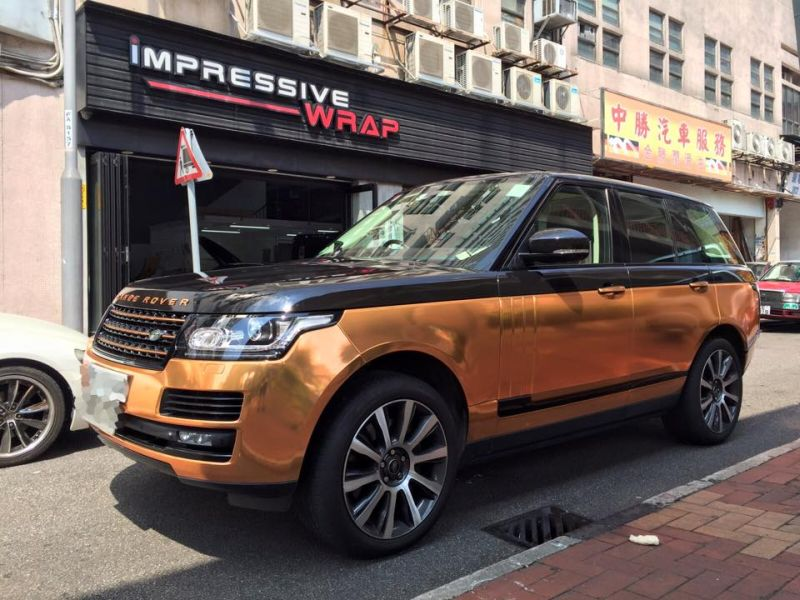 Copper Rose Range Rover tuning Folierung 1 Dezent geht anders   Copper Rose Folierung am Range Rover