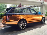 Copper Rose Range Rover tuning Folierung 2 190x143 Dezent geht anders   Copper Rose Folierung am Range Rover