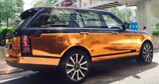 Copper Rose Range Rover tuning Folierung 2 310x165 Dezent geht anders   Copper Rose Folierung am Range Rover