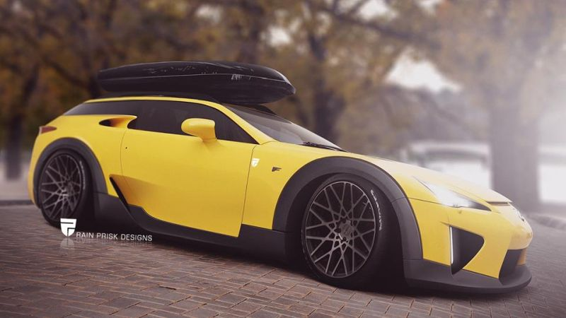 Lexus LFA shooting brake 1 Rendering: Rain Prisk   Lexus LFA Shooting Brake