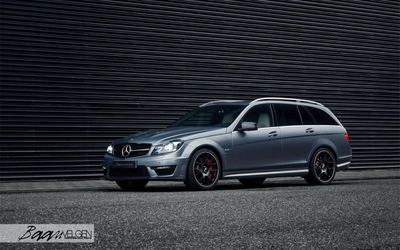 Mercedes C63 AMG Estate carbon BBS Akrapovic exhaust 1 Mercedes Benz C63 AMG T mit BBS CH R & Carbon Bodykit