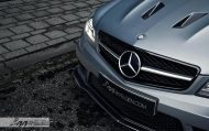 Mercedes C63 AMG Estate carbon BBS Akrapovic exhaust 2 190x119 Mercedes Benz C63 AMG T mit BBS CH R & Carbon Bodykit