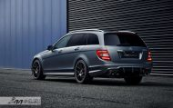Mercedes C63 AMG Estate carbon BBS Akrapovic exhaust 5 190x119 Mercedes Benz C63 AMG T mit BBS CH R & Carbon Bodykit