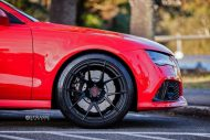 audi rs7 1 tuning s5mr 3 190x127 Roter Audi RS7 auf schwarzen 21 Zoll SM5R Alu's