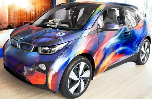 fotostory bmw i3 art car by sebastian boileau mr d. Black Bedroom Furniture Sets. Home Design Ideas
