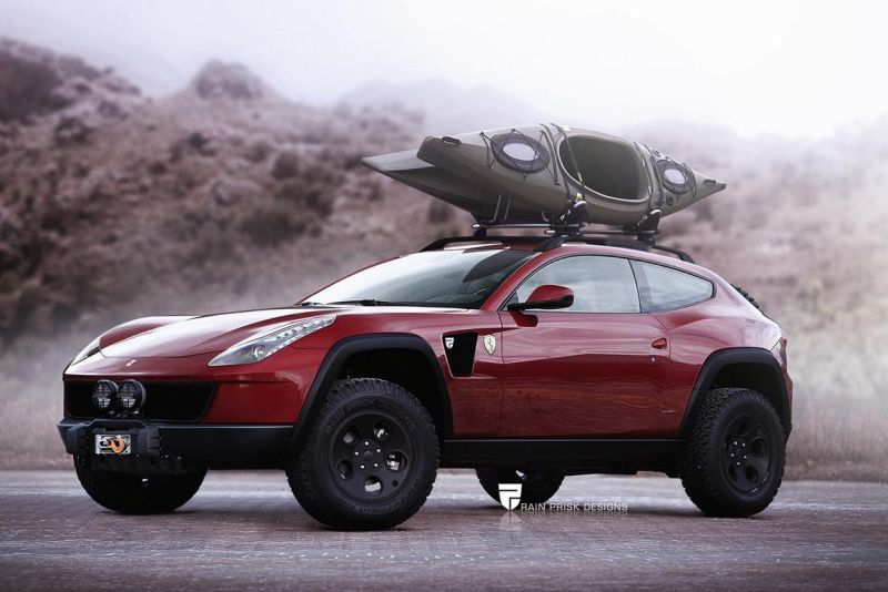 ferrari ff with offroad equipment would 101103 1 Rendering   Ferrari FF als kantiges Offroad SUV