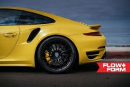 hre 911 turbo s yellow tuning car 1 190x127 Gelber Porsche 911 (991) Turbo S auf HRE FF15 Alu's