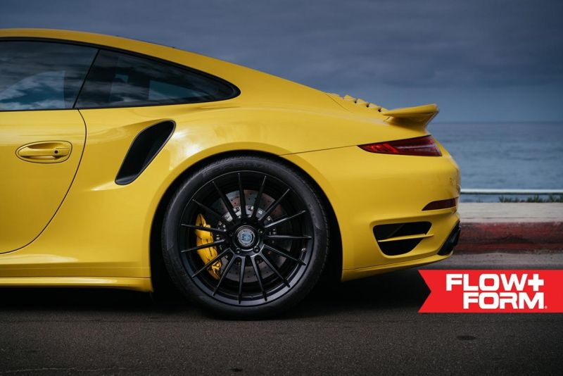 hre 911 turbo s yellow tuning car 1 Gelber Porsche 911 (991) Turbo S auf HRE FF15 Alu's