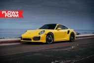 hre 911 turbo s yellow tuning car 3 190x127 Gelber Porsche 911 (991) Turbo S auf HRE FF15 Alu's