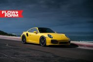 hre 911 turbo s yellow tuning car 8 190x127 Gelber Porsche 911 (991) Turbo S auf HRE FF15 Alu's