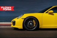 hre 911 turbo s yellow tuning car 9 190x127 Gelber Porsche 911 (991) Turbo S auf HRE FF15 Alu's