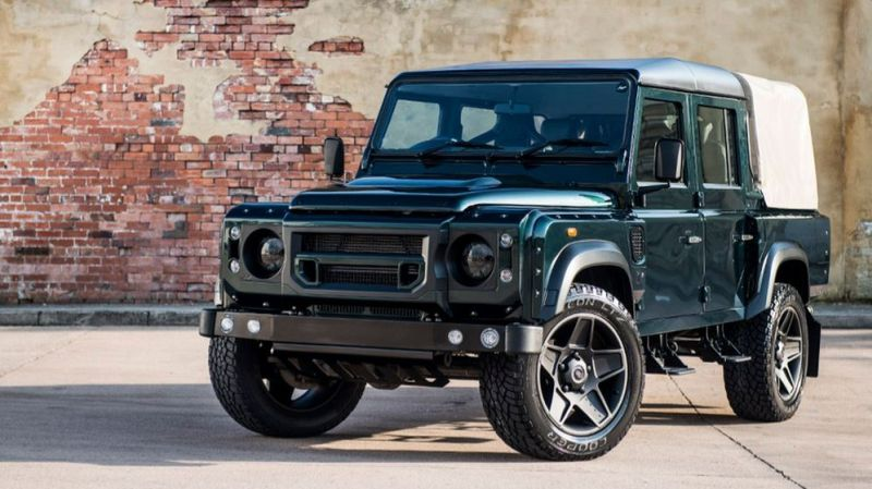 kahn design doppel cab new pics 1 Land Rover Defender 2.2 TDCI 110 Double Cab Pick Up   Chelsea Wide Track