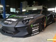 liberty walk lamborghini aventador with monster livery 4 190x143 Monster Energy   Liberty Walk Lamborghini Aventador