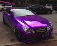 mb purple china 1 190x153 Fotostory: Lila glänzendes Mercedes Benz E Klasse Coupe