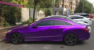 mb purple china 2 190x101 Fotostory: Lila glänzendes Mercedes Benz E Klasse Coupe