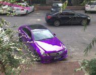 mb purple china 6 190x149 Fotostory: Lila glänzendes Mercedes Benz E Klasse Coupe