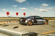 Audi R8 On ADV05R MV2 CS By ADV.1 Wheels 05 190x127 20 Zoll ADV05R MV2 CS Alufelgen am mattsilbernen Audi R8