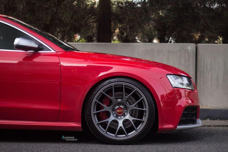 Audi Rs5 Bbs Ch R Wheels Red Gold Center Caps Michelin Pss