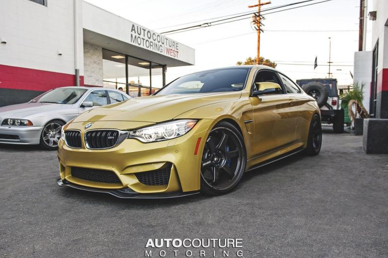 Austin Yellow BMW M4 With A Lot of Carbon Added 2 BMW M4 F82 in Austin Yellow by Autocouture Motoring