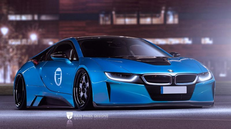 BMW i8 Widebody Rain Prisk Designs tuning car new 1 Fettes Teil   Neuer BMW i8 Widebody by Rain Prisk Designs