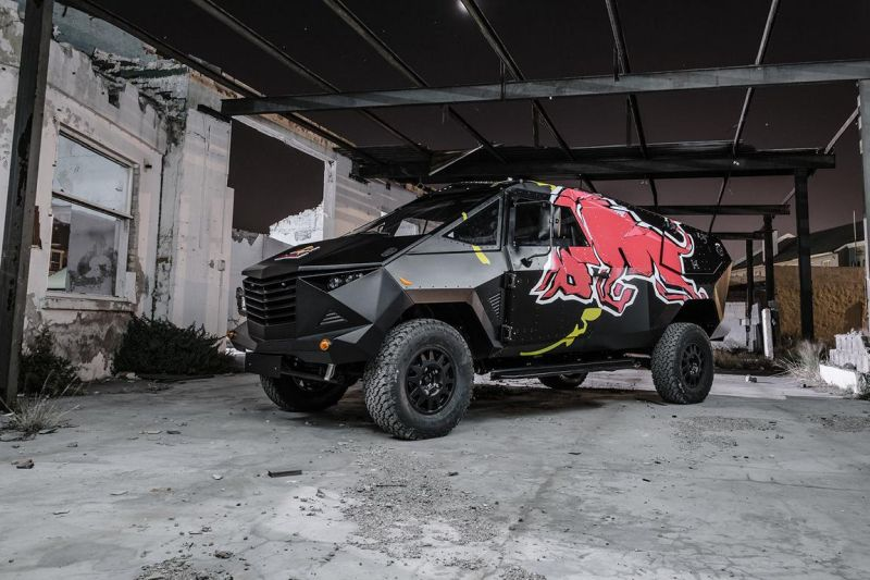 red bull reveals armored event vehicle with tuning copy 1 Red Bull extremo Land Rover Defender 130