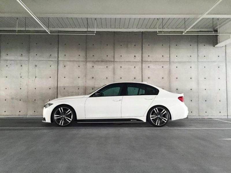 White Bmw 3er F30 With Gt Exhaust House By Edo