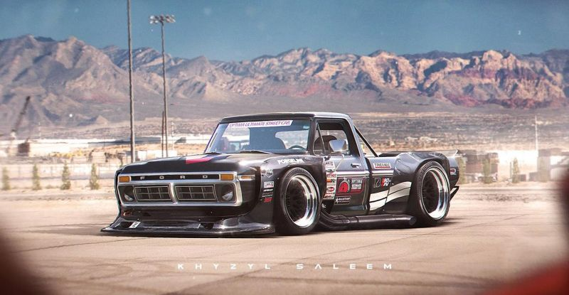 1970s ford f series with toyota ae86 n2 wide body kit should be ken blocks new hoonicorn 102657 1 Rendering: Ultra fett   Widebody 1970er Ford F Series