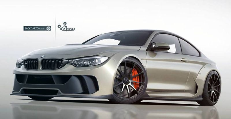 BMW M4 Wide Body JD tuning car 1 Rendering: Jack Darton BMW M4 F82 Wide Body