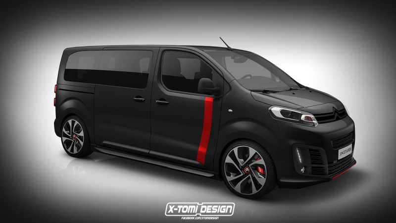 rendering citroen spacetourer racing by x tomi design magazin. Black Bedroom Furniture Sets. Home Design Ideas