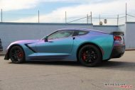 Lavender Turquoise Corvette Stingray impressive wrap 9 190x127 Chevrolet Corvette Stingray C7 Z06 in Lavendel by Impressive Wrap