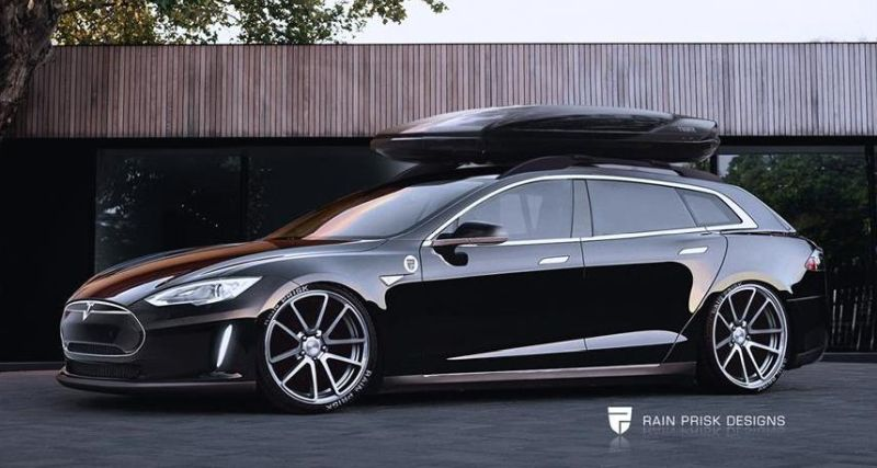 rendering tesla model s wagon by rain prisk designs. Black Bedroom Furniture Sets. Home Design Ideas