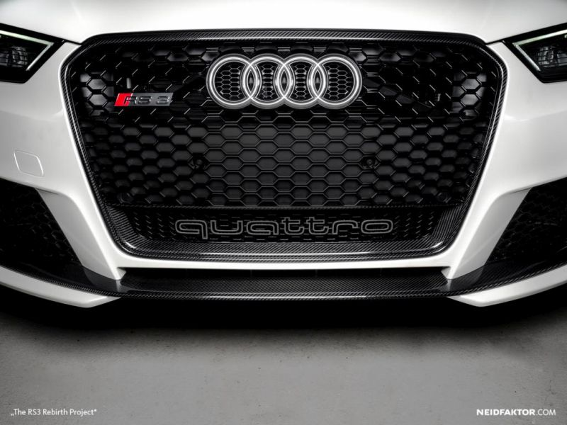 The RS3 Rebirth Project HQ1 tuning 2 Neidfaktor zeigt Carbon Produkte für den Audi RS3