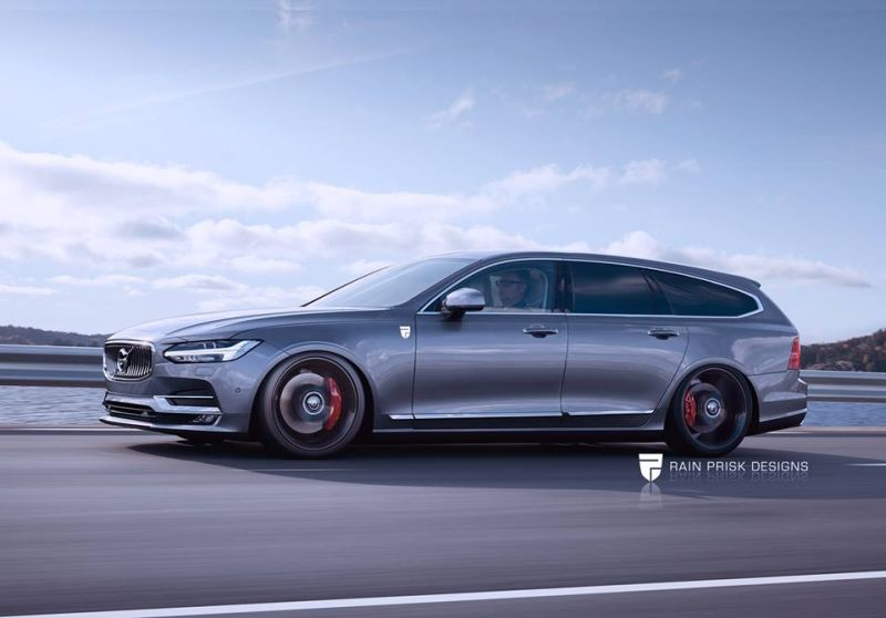 volvo v90 polestar rendering 102608 new version 1 Rendering: Polestar Version des Volvo V90 by RPD