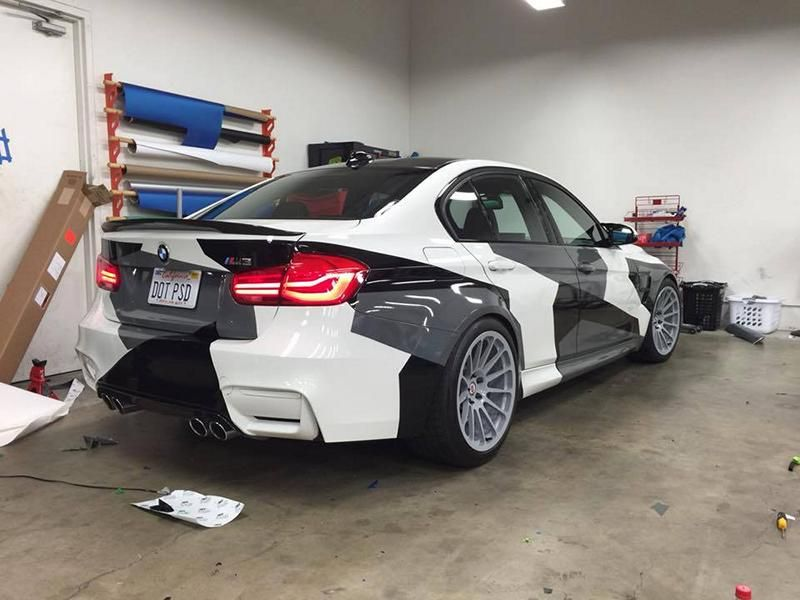 11201833 10153181269716722 3683029374255781675 n Crazy Outfit   BMW M3 F80 Camouflage Folierung & HRE Wheels