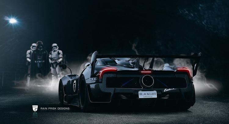 rendering: spacig - darth vader's pagani zonda 760 lm - tuningblog