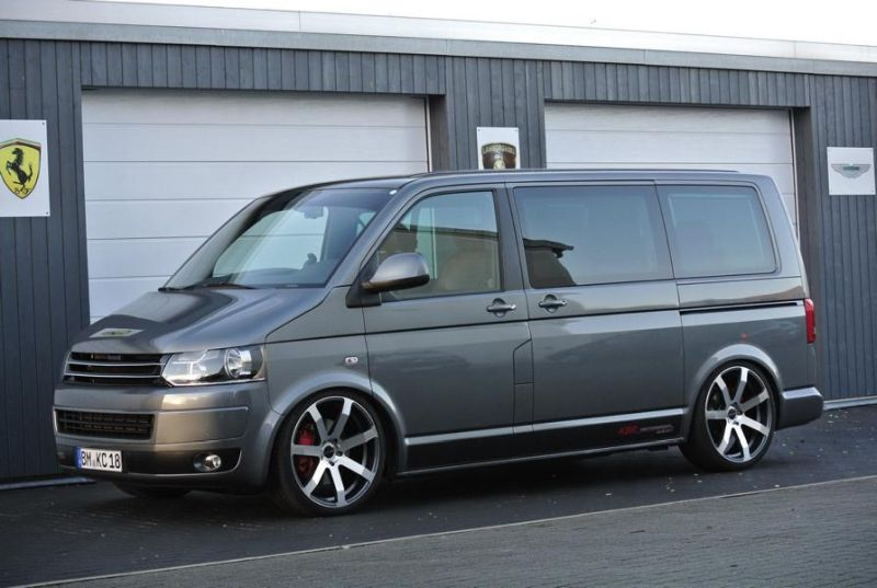 vw t5 multivan mit h r gewindefahrwerk by kbr motorsport magazin. Black Bedroom Furniture Sets. Home Design Ideas