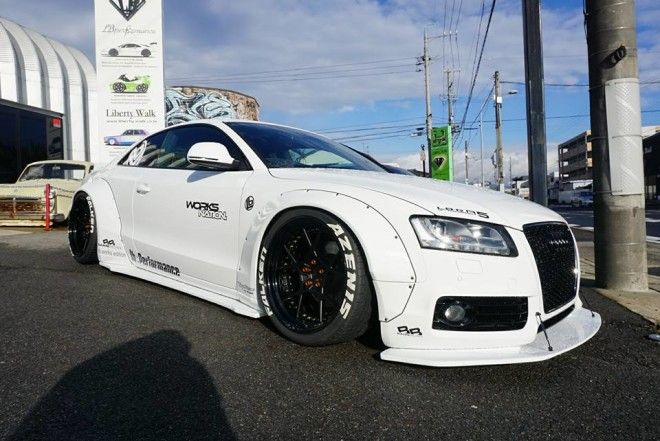 feeeeeeeeett audi a5 coupe by liberty walk performance. Black Bedroom Furniture Sets. Home Design Ideas