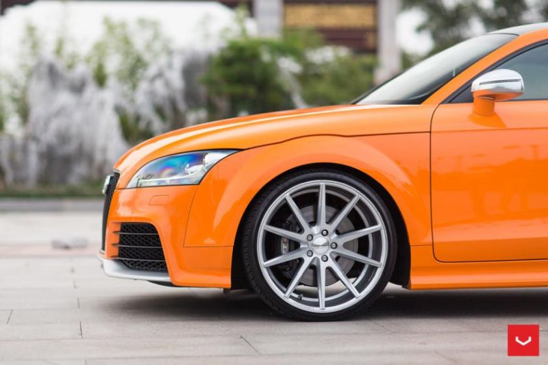 Audi TT RS Solar Orange Vossen VFS 1 Wheels Top Station China Vossen Wheels 2015 1 Audi TTrs auf Vossen Wheels VFS 1 Alufelgen in 20 Zoll