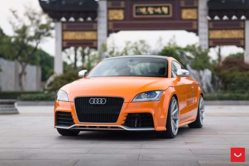 Audi TT RS Solar Orange Vossen VFS 1 Wheels Top Station China Vossen Wheels 2015 4 Audi TTrs auf Vossen Wheels VFS 1 Alufelgen in 20 Zoll