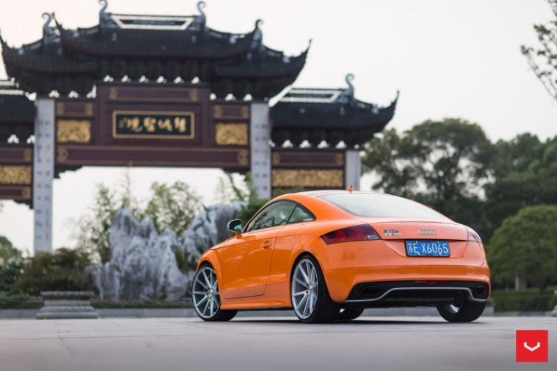Audi TT RS Solar Orange Vossen VFS 1 Wheels Top Station China Vossen Wheels 2015 6 Audi TTrs auf Vossen Wheels VFS 1 Alufelgen in 20 Zoll