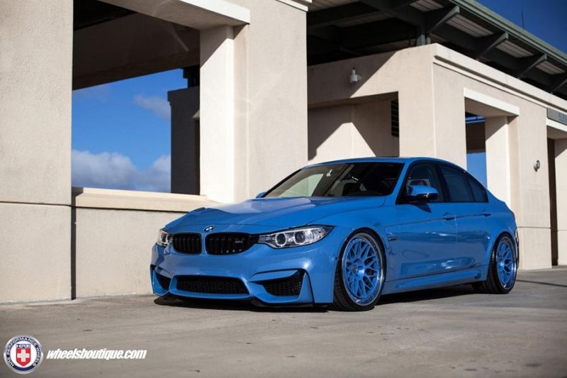 BMW F80 M3 HRE Wheels 300 Classic Yas Marina 1 4 HRE 300 Classic Wheels am blauen BMW F80 M3