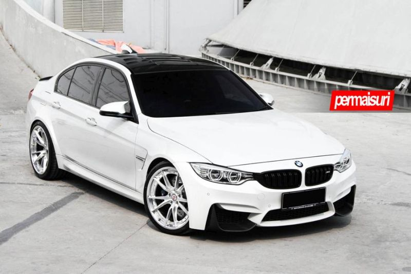 BMW M3 with HRE S104 in Brushed Clear by Permaisuri 2 BMW M3 F80 auf HRE S104 Alu's by Permaisuri