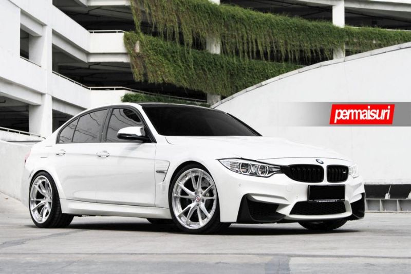 BMW M3 with HRE S104 in Brushed Clear by Permaisuri 3 BMW M3 F80 auf HRE S104 Alu's by Permaisuri