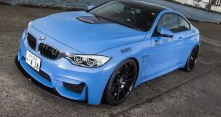 BMW M4 F82 Yas Marina Blau Lightweight Titanauspuffanlagen Lightweight Performance 1 310x165 BMW M4 F82 in Yas Marina Blau by Lightweight