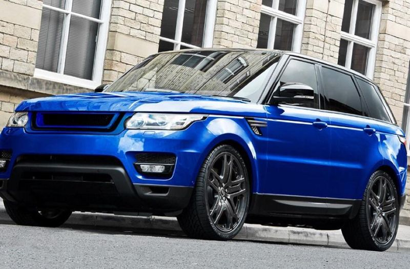CWfh4N4WEAAuFdC Range Rover Sport 3.0 SDV6 HSE in Estoril Blau by Kahn Design