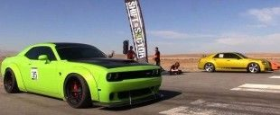 Dragerace Dodge Challenger Hellcat Kompressor Chrysler 300C e1454129308976 310x128 Video: Dragerace   Dodge Challenger Hellcat gegen Kompressor Chrysler 300C