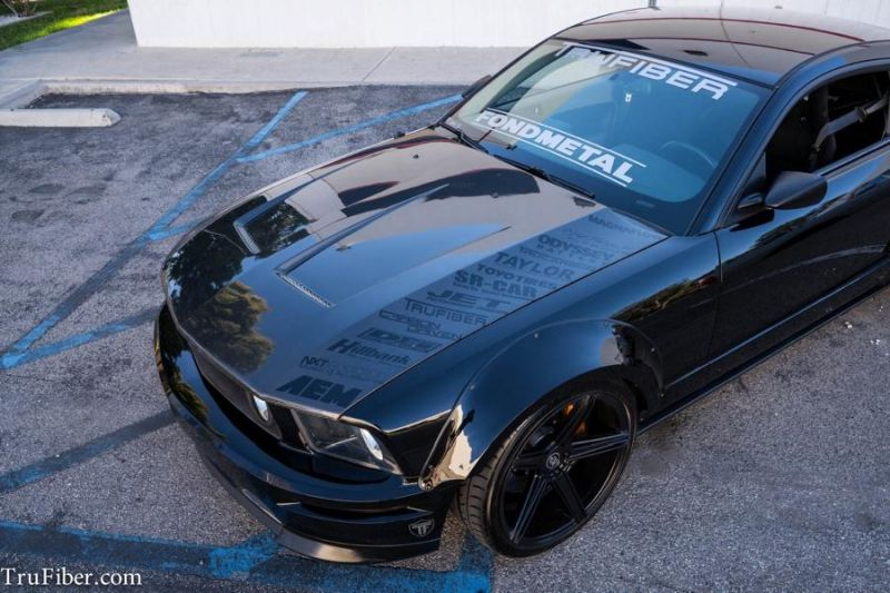 Ford Mustang Widebody mbDesign Tuning TruFiber 12 Ford Mustang Widebody auf mbDesign Alu's by TruFiber
